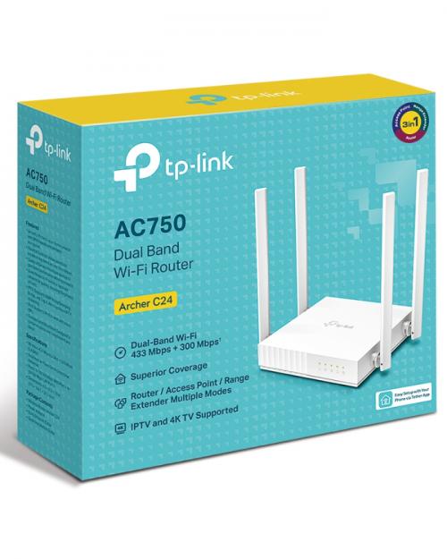 Router Wifi De Doble Banda AC750 Archer C24